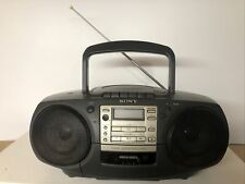 Sony CFD-370 CD Radio Cassette CD Player TESTED