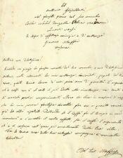 Lettera di Giacomo Maffei ad Antonio Ghisalberti per Matrimonio in Brescia 1850