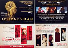 PADDY CONSIDINE FILM MOVIE POSTCARDS X 4 - JOURNEYMAN - FUNNY COW 2018