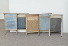 More details for 5x vintage old wooden / metal wash board washboard - free postage