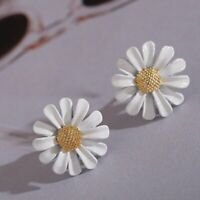 Fashion Sunflower Earrings Drop Dangle Ear Stud Flower Daisy Women Jewelry Gift