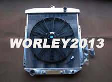 3 rows aluminum radiator + Fan for FORD Fairlane Sedan Wagon Mainline 1954-1956