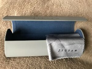 Jigsaw ladies glass case with cleaning cloth, good used condition