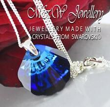 925 SILVER NECKLACE PENDANT CRYSTALS FROM SWAROVSKI® 16MM SHELL - BERMUDA BLUE