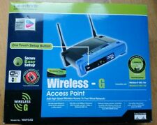 Linksys WAP54G wireless-G & B access point 54Mbps With P-Supply And Wall Mount