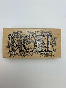 "Petaluma PSX Designs Noel Wooden Rubber Stamp K-1624 2.5x5"" Collectibles"