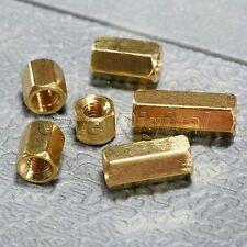50Pcs M3 x 4/5/6/8/10/12mm Brass Hexagonal Female Nuts PCB Board Standoff Spacer