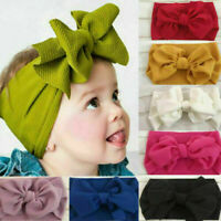 Kid Girls Baby Big Bow Hairband Headband Stretch Turban Knot Head Wrap Headwear