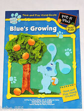 BLUE'S CLUES THINK & PLAY ALONG BOOKS  , WITH STICKERS,   FROM 1999,  32 PAGES