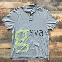 J Crew Size Large Shirt Short Sleeve Vintage Polo Golf Cotton Green Mens GSVA