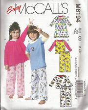McCall's Pattern - M6194 Size: CB 1-2-3 years - Toddlers - Childrens Nightwear