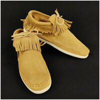 Minnetonka Moccasins Low Boots Shoes Brown Women's 10 Fringe Suede