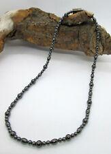 Magnetic Hematite Bead Choker Necklace - unisex - 46 cm / 18.11 inch