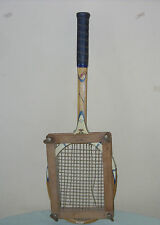 Vtg Cragin Wooden Tennis Racquet fibre sealed throat with Wooden Press Holder