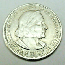 1893 Columbian Exposition 90% Silver Half Dollar *AU*  **FREE SHIPPING**
