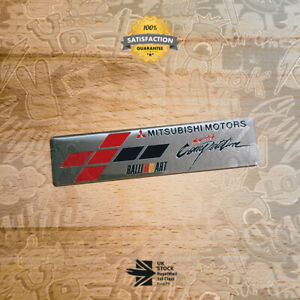 Mitsubishi Motorsport Competition Ralliart Brushed Limited Edition Badge 20