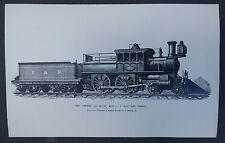 PA Postcard P. & R. Rail Road Fast Express Locomotive Steam Engine unposted
