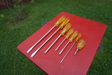 Vintage PROTO 7 Piece  Screwdriver Set 6 Slotted and 1 Phillips,Made In USA