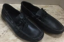 LB Evans  Size 11M Black Pebbled Leather Driving Loafers Shoes