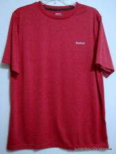 Reebok Medium NWOT Red Polyester Athletic Short Sleeve Mens T-Shirt M Crewneck