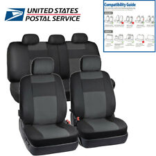 Durable 5 Seats Black PU Leather Car Seat Cover Protects Seats From Wear US Ship