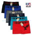 Lot 6 Pack Mens Microfiber Boxer Briefs Underwear Compression Stretch Sport Flex