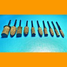 10 Stück Set Gummi Polier Punkte Polierer 4 - 10 mm für Dremel Proxxon Multitool