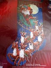 "Christmas Janlynn Holiday Needlepoint Stocking Kit,UP UP AND AWAY,18"",023-0213"