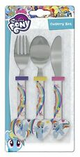 My Little Pony Cutlery Set Child Knife Fork Spoon - Official Product - NEW