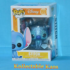 Lilo and Stitch - Stitch Seated Diamond Glitter Pop! Vinyl #159 + Protector