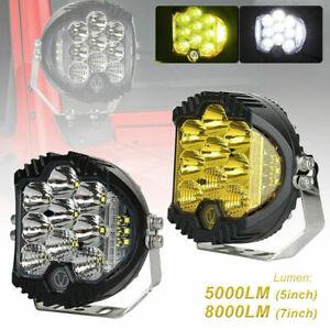 "Car 5""/ 7"" LED Work Light Pods Spot Flood Combo Fog Lamp Lights Offroad Driving"