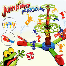 KIDS JUMPING TUMBLING FROGS BOARD GAME TOY GIFT XMAS MULTICOLOR FROG HOPPING