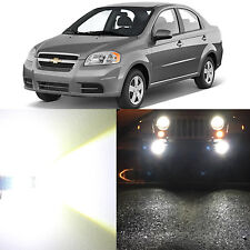 Alla Lighting Fog Light H3 6000K Super White LED Bulb for 09~11 Chevy Aveo Aveo5