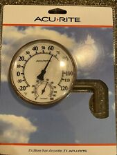 "Acurite Swivel Thermometer With Hygrometer 3.5"" Easy Read / Easy Mount - New"