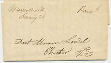 """GB 1839 """"Paid 6"""" manuscript superb complete entire from """"WAIPOLE"""" to CHESTER"""