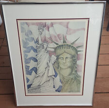 "Edward Fisher ""A Proud Lady"" Limited Edition Lithograph Of The Statue Of Liberty"