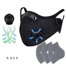 B-Outdoor Riding Face Masks Air Purifying PM2.5 Filter Sport Face Cover+ 3 Filte