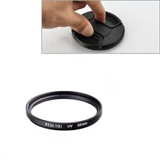 52mm UV Ultra-Violet Filter Lens protector For Pentax Nikon Canon Sony+Cap