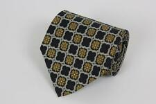 ROBERT TALBOTT Silk Tie. Black w Brown Boxed Floral.