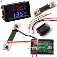 Hot DC 100V 10A 50A 100A Voltmeter Amperemeter LED Dual Volt U9A9 Meter Digital