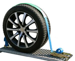 5000kg 50 mm Spanngurte Autotransport Reifengurt Radsicherung Zurrgurte Gurt