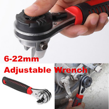 Adjustable Ratcheting Wrench Spanner Hand Tool For 6-22mm 1 / 4--7 / 8 in Screw