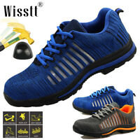 Mens Safety Shoes Steel Toe Caps Work Boots Antislip Lightweight Safety Trainers