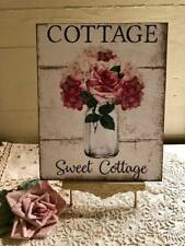 Shabby Chic Plaque, COTTAGE SWEET COTTAGE, Handcrafted Sign
