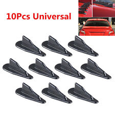 10Pcs Car Exterior Spoiler Wings Carbon Fiber Style Kits Roof Shark Fins Decorat