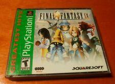 Final Fantasy IX Sony PlayStation 1 PS1 Squaresoft , Square Electronic Arts