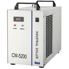 110V 60Hz CW-5200DG Industrial Water Chiller for One 130W/150W CO2 Glass Laser