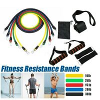 11 Pcs/Set Latex Resistance Bands Training Exercise Yoga Tubes Pull Rope,Rubber