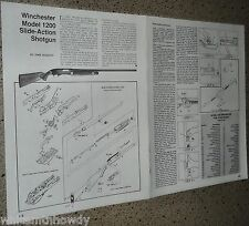 WINCHESTER 1200 Slide-Action RIFLE Exploded View.Parts List.Assembly Article*