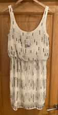 Forever 21 Ivory And Sequin Dress, Flapper Dress New With Tags Size Medium